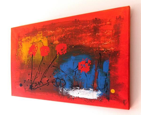 Pittura astratta quadri astratti arte moderna for Tele dipinte a mano moderne