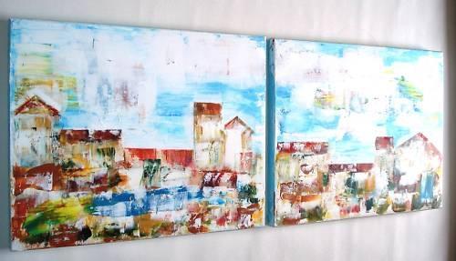Quadri moderni acrilico sanader art pittura astratta for Tele dipinte a mano moderne