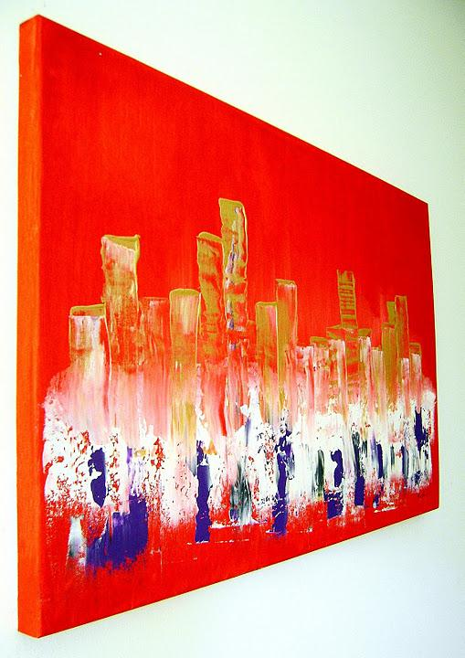 Quadri moderni ebay sanader art pittura astratta for Tele dipinte a mano moderne