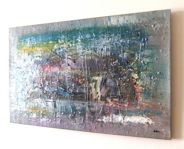 Acrilico su tela sanader art acrilico pittura pittura for Quadri pittura astratta